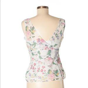 LOFT Tops - Ann Taylor LOFT white sheer floral print top sz 2